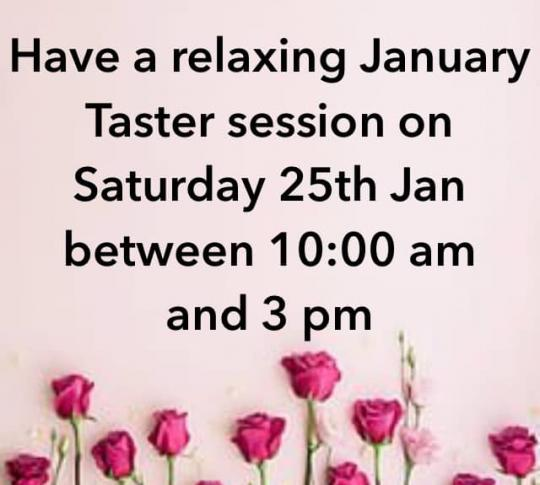 Taster Session Saturday 25th January