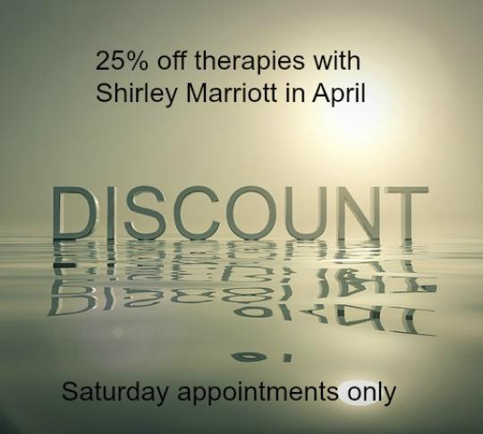 April Offer with Shirley Marriott